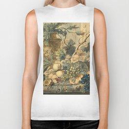 "Jan van Huysum ""Still life with flowers and fruits"" (drawing) Biker Tank"