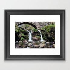 Three Shires Head Waterfall Framed Art Print
