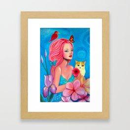 Fairy in wonderland Framed Art Print