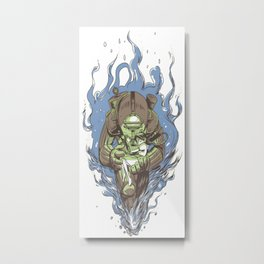 Bioshock Treadless Metal Print
