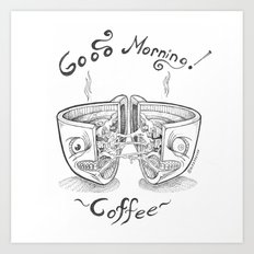 Good Morning Coffee 3 Art Print