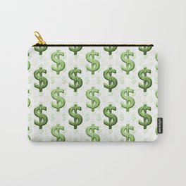 Dollar Sign Pattern Carry-All Pouch
