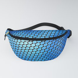 Blue LED Abstract Art Design Fanny Pack