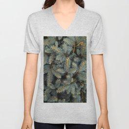 Evergreen Tree Pattern (Color) Unisex V-Neck