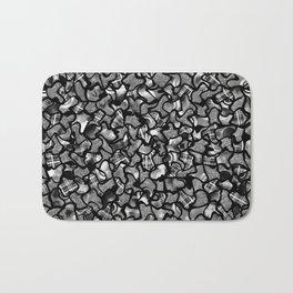 Two Tone Wobble Tiles Pattern Bath Mat