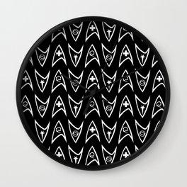 Insignia Pin Rows // Black Wall Clock