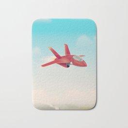 Red Jet fighter plane Bath Mat