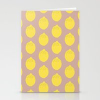 lemon Stationery Cards featuring Lemon by Grace