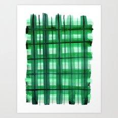 Evergreen Plaid Art Print