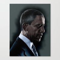 obama Canvas Prints featuring OBAMA by Marc Rodriguez