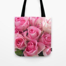 Pink Roses Bouquet Tote Bag