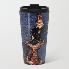 INDIGO & GOLD GEMSTONE Metal Travel Mug