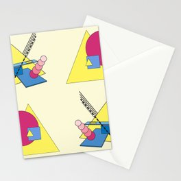 The Shape Haus: a Contemporary Bauhaus Composition Stationery Cards