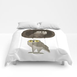 Two little owls Comforters