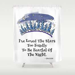 Starry Pines Shower Curtain