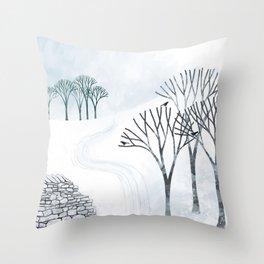 More Snow to Come Throw Pillow