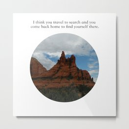 Find Yourself Quote Metal Print