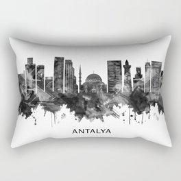 Antalya Turkey Skyline BW Rectangular Pillow