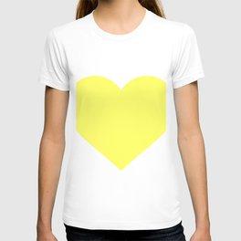 Heart (Light Yellow & White) T-shirt