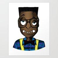 nerd Art Prints featuring Nerd by DeMoose_Art