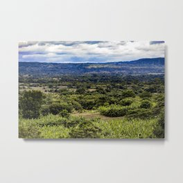 Stunning Views of the Nicaraguan Countryside and Farms from the Rainforest of Nicaragua Metal Print