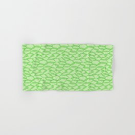Overlapping Leaves - Light Green Hand & Bath Towel