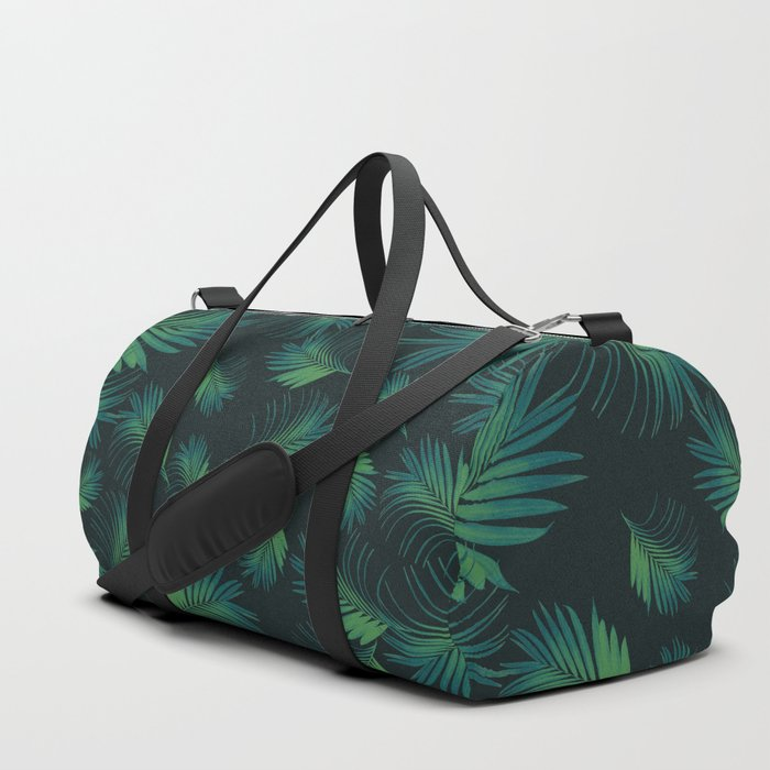 Tropical Night Palms Pattern #1 #tropical #decor #art #society6 Duffle Bag