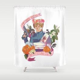 """Resident Evil 2 Print - """"22 - Leon"""" Shower Curtain"""