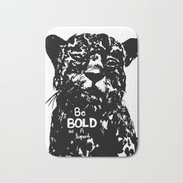 Bold As A Leopard Bath Mat