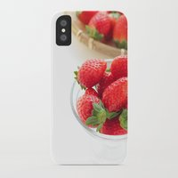 strawberry iPhone & iPod Cases featuring strawberry by Masako Ogasawara, photography & fine art