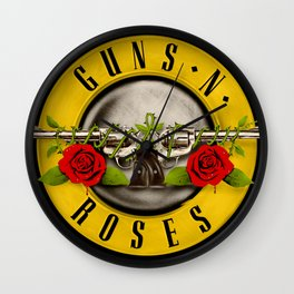 guns n roses ori logo 2021 desem Wall Clock
