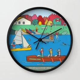 Canoeing Summer Camp Wall Clock