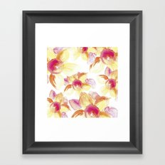 Sunflowers Watercolor Framed Art Print