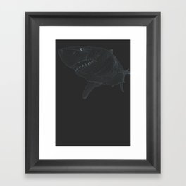 All lines lead to the...Great White Shark Framed Art Print
