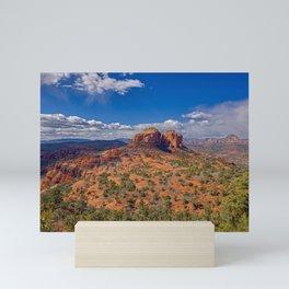 Cathedral Rock view from HiLine Trail Vista Sedona AZ Mini Art Print