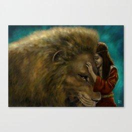 Aslan & Lucy Canvas Print