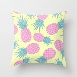 Pink pastel pineapple Throw Pillow