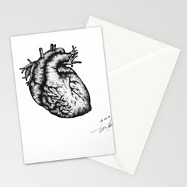 Realistic heart Stationery Cards