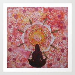 Sunset Nature Mandala Art Print