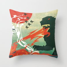 Tokyo or Bust Throw Pillow