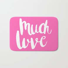 Much love - Pink brush lettering Bath Mat