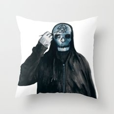 It Looks Better With A Pentacle Throw Pillow