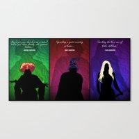 hocus pocus Canvas Prints featuring Hocus Pocus by Brieana
