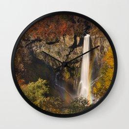 Kegon Falls near Nikko, Japan in autumn Wall Clock