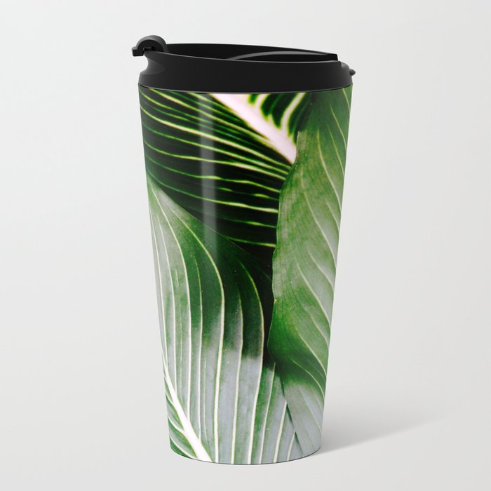 Big Leaves - Tropical Nature Photography Metal Travel Mug