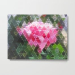 Pink Roses in Anzures 6 Art Triangles 2 Metal Print