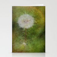 hot fuzz Stationery Cards featuring Dandelion Fuzz by Spoken in Red