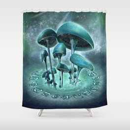 Mystic Mushrooms Shower Curtain