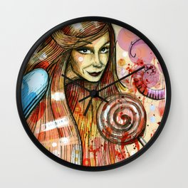 Lollipop girl Wall Clock