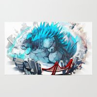 godzilla Area & Throw Rugs featuring Godzilla by Sa-Dui